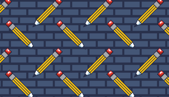 铅笔图案背景矢量素材(EPS)