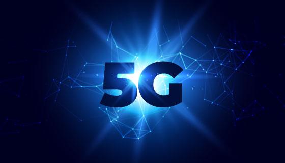 5G概念背景矢量素材(EPS)