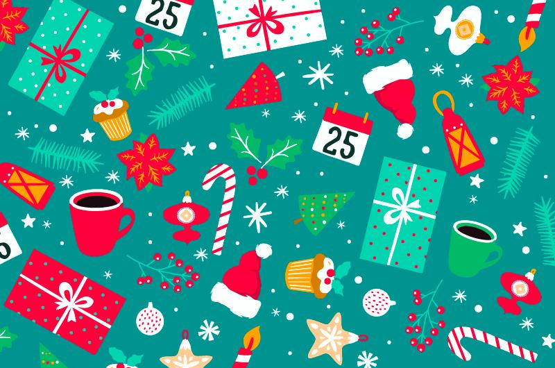手绘风格圣诞节元素矢量素材(AI/EPS/免扣PNG)
