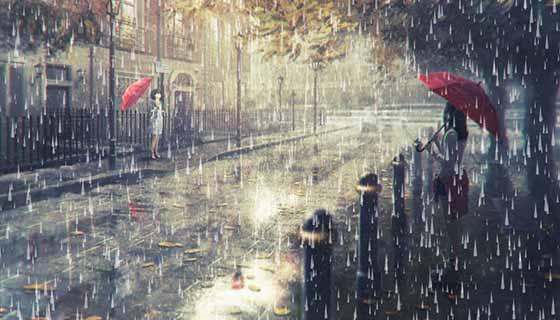 canvas下雨打雷效果