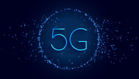 蓝色5G概念背景矢量素材(EPS)