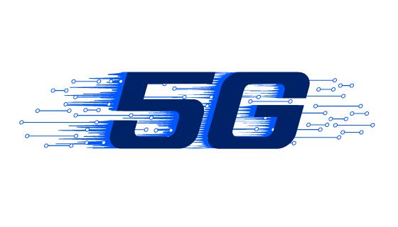 蓝色5G概念设计矢量素材(EPS/PNG)