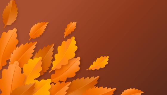 橙色叶子背景矢量素材(AI/EPS)