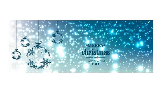 闪闪发光的圣诞节banner矢量素材(EPS)