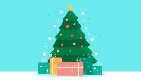 扁平风格圣诞树矢量素材(ai/eps)