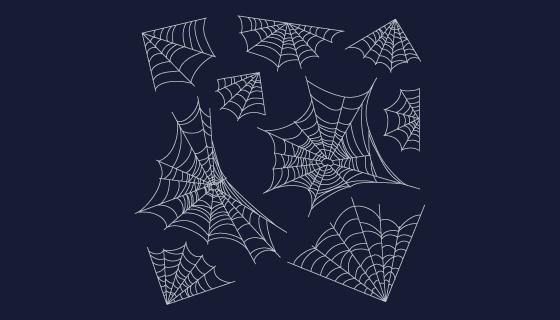 手绘万圣节蜘蛛网矢量素材(AI/EPS/PNG)