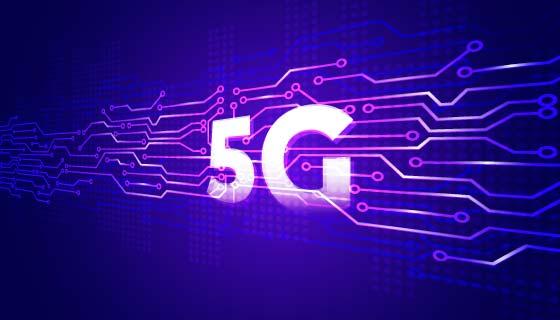 紫色5G概念背景矢量素材(AI/EPS)