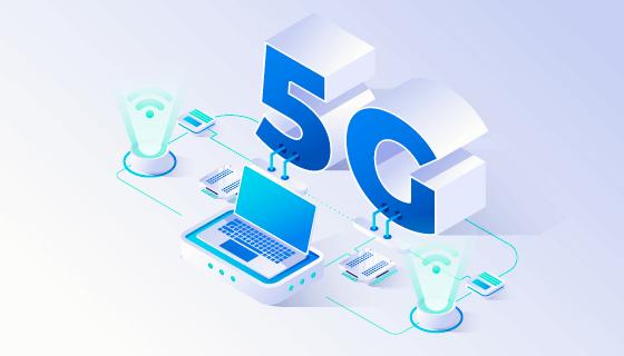 各种设备5G概念背景矢量素材(AI/EPS)