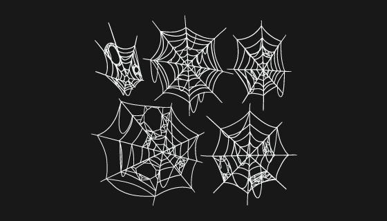 手绘蜘蛛网矢量素材(AI/EPS/PNG)