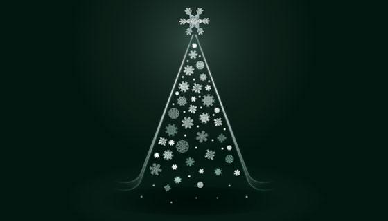 抽象概念圣诞树矢量素材(AI/EPS)