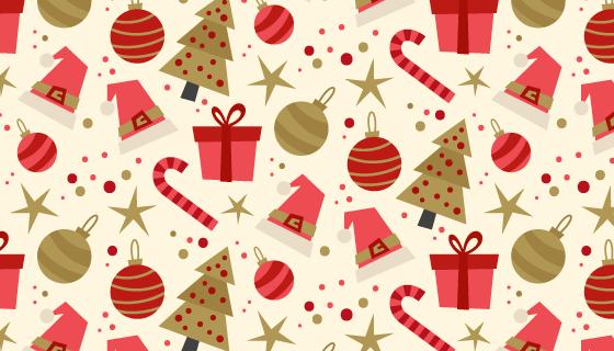 扁平风格圣诞节背景矢量素材(AI/EPS)