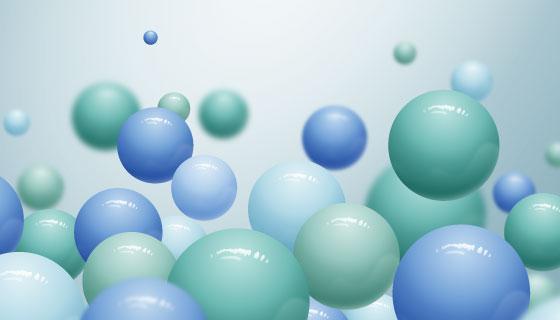 流动的逼真球体背景矢量素材(AI/EPS)