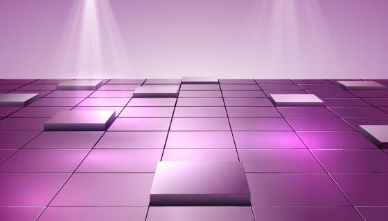 逼真立体地板背景矢量素材(AI/EPS)