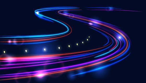 高度流动光线背景矢量素材(AI/EPS)