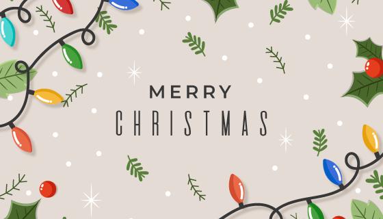 手绘圣诞节装饰背景矢量素材(AI/EPS)