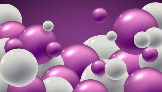 逼真光滑的球体背景矢量素材(AI/EPS)
