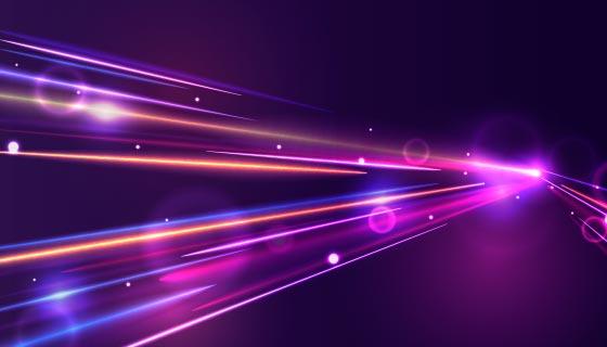 高速灯光轨迹背景矢量素材(AI/EPS)