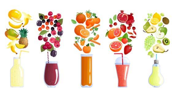 新鲜美味果汁矢量素材(EPS/PNG)
