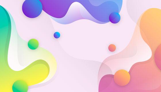 抽象多彩的流动形态背景矢量素材(AI/EPS)