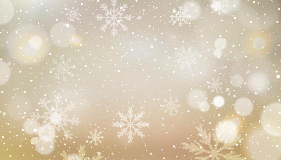 散景雪花圣诞节背景矢量素材(eps)