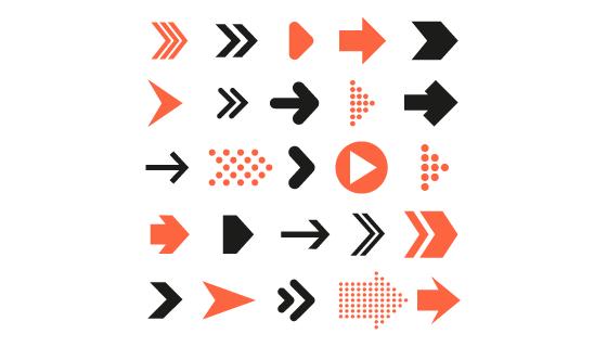 各种各样的信息箭头矢量素材(AI/EPS/PNG)