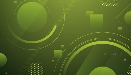 绿色抽象几何背景矢量素材(AI/EPS)