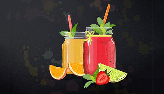 美味果汁矢量素材(EPS/AI)