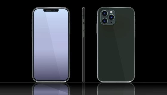暗夜绿色iPhone 11 Pro/Max矢量素材(AI/EPS/PNG)