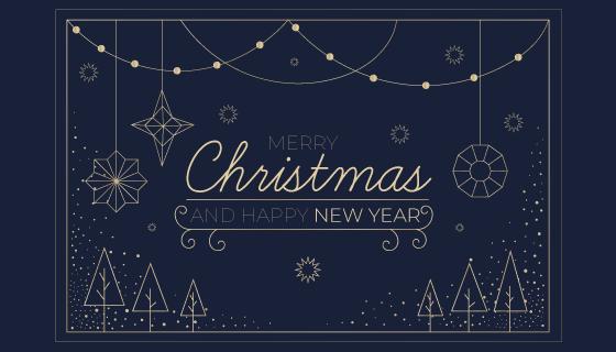 圣诞节概念轮廓背景矢量素材(AI/EPS/PNG)