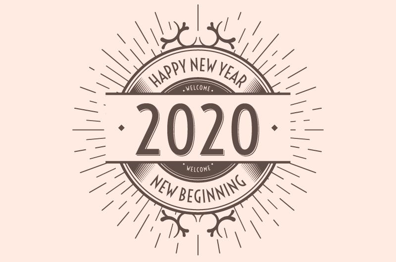 复古的2020新年快乐背景矢量素材(AI/EPS/免扣PNG)