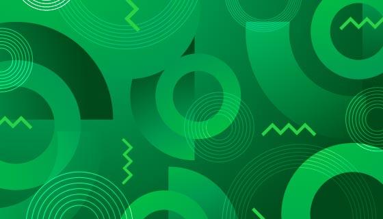 抽象绿色几何背景/壁纸矢量素材(AI/EPS)