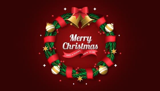 漂亮的圣诞节花环矢量素材(AI/EPS)