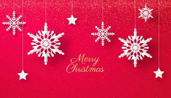 各种各样的雪花圣诞节背景矢量素材(AI/EPS)