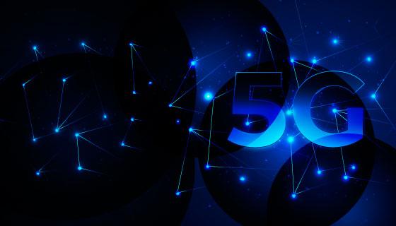未来科技感5G概念背景矢量素材(AI/EPS)