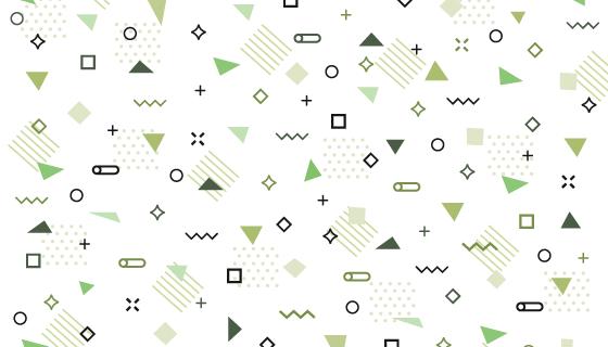 绿色几何形状孟菲斯风格背景矢量素材(AI/EPS/PNG)