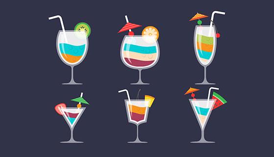 多彩的鸡尾酒矢量素材(EPS/AI)
