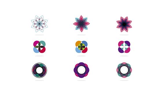 花卉图标矢量素材(EPS)