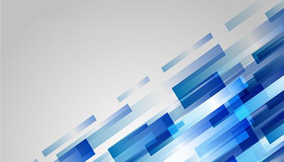 蓝色几何图形背景矢量素材(EPS)