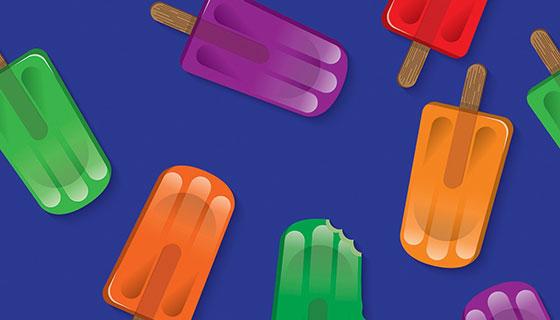多彩的冰棒矢量素材(AI)