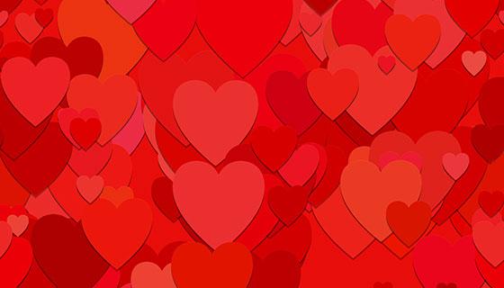 红色爱心背景矢量素材(EPS)