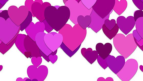 紫色爱心背景矢量素材(EPS)