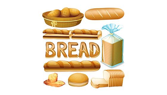 各种各样的面包矢量素材(EPS)