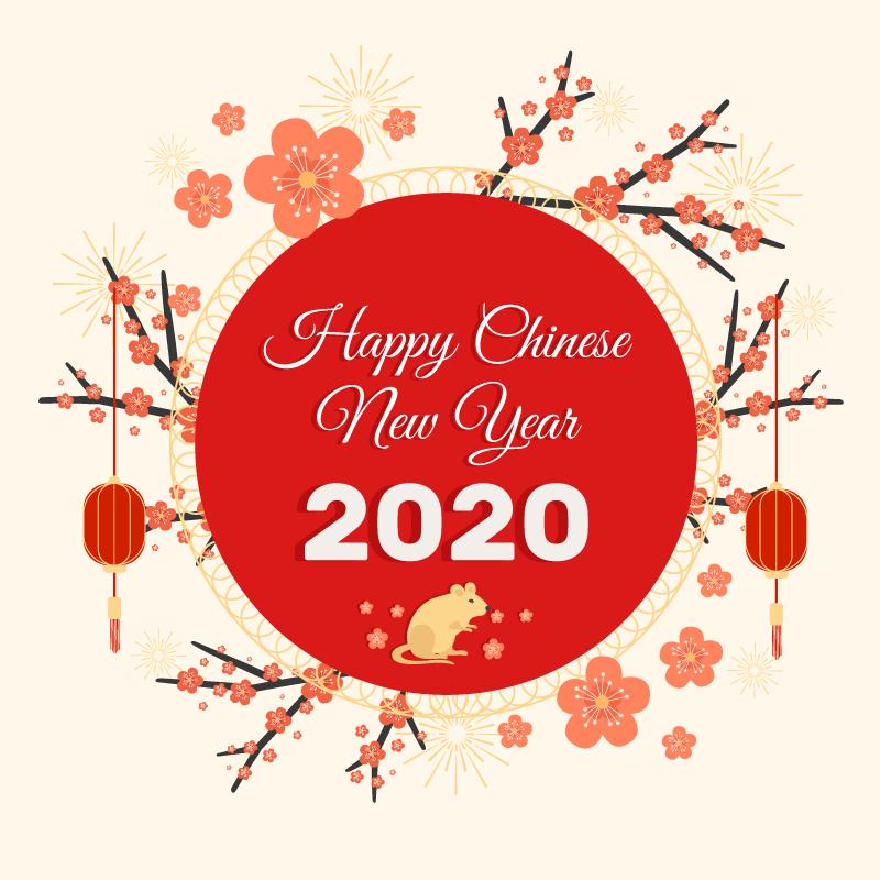 灯笼花环设计2020春节快乐矢量素材(AI/EPS/免扣PNG)