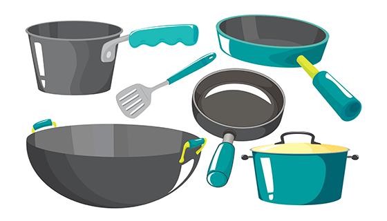 各种各样的厨房设备矢量素材(EPS)