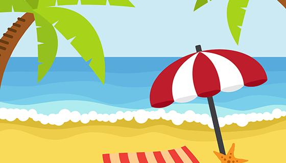 海滩背景矢量素材(EPS)