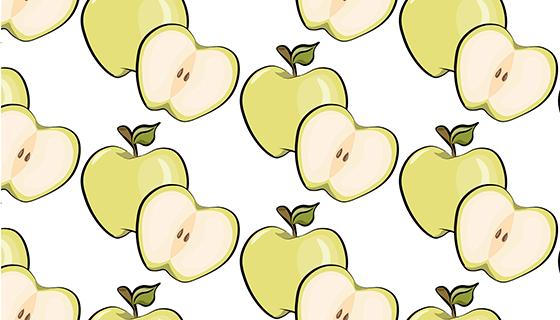 苹果图案背景矢量素材(EPS)