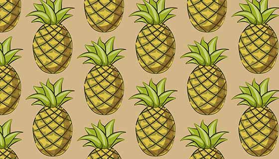 菠萝图案背景矢量素材(EPS)