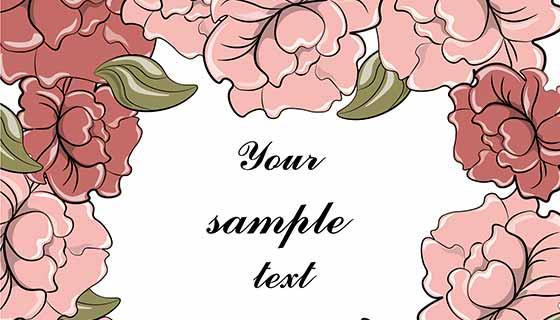 玫瑰背景相框矢量素材(EPS)