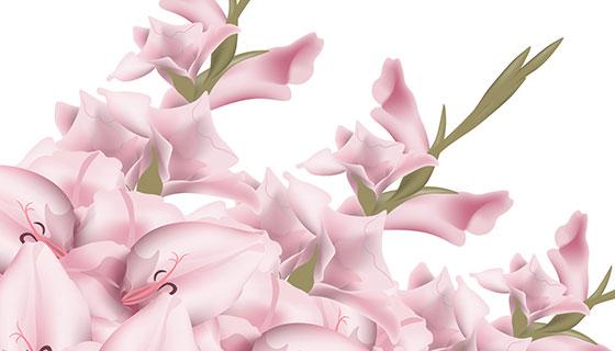 粉红色花朵背景矢量素材(EPS)