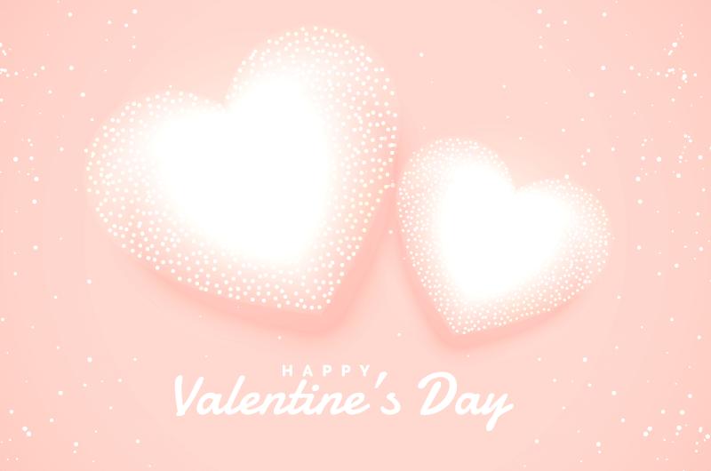 创意白色爱心情人节背景矢量素材(EPS)